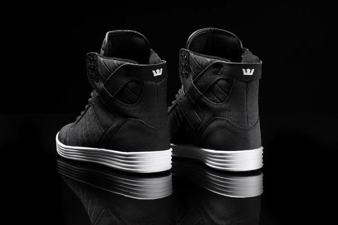 Supra skytop lite black&white dress.