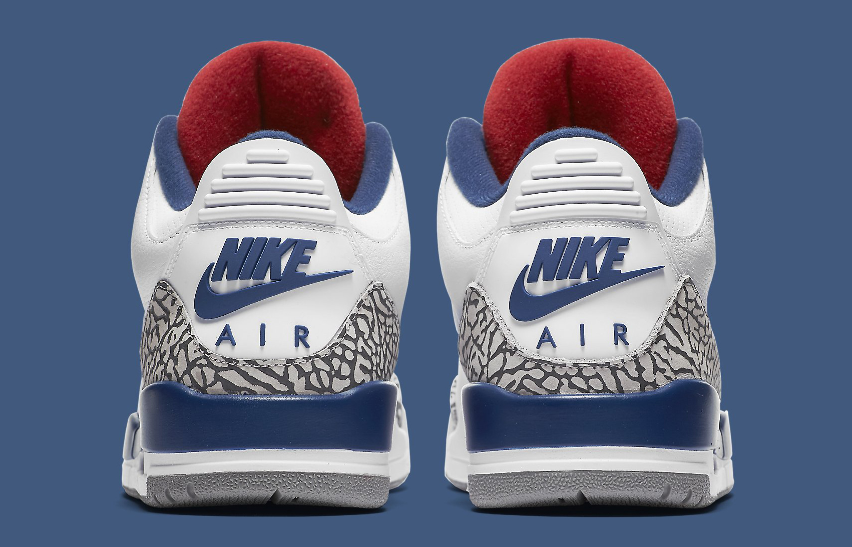 05cbae347f5746 Image via Nike True Blue Air Jordan 3 854262-106 Heel