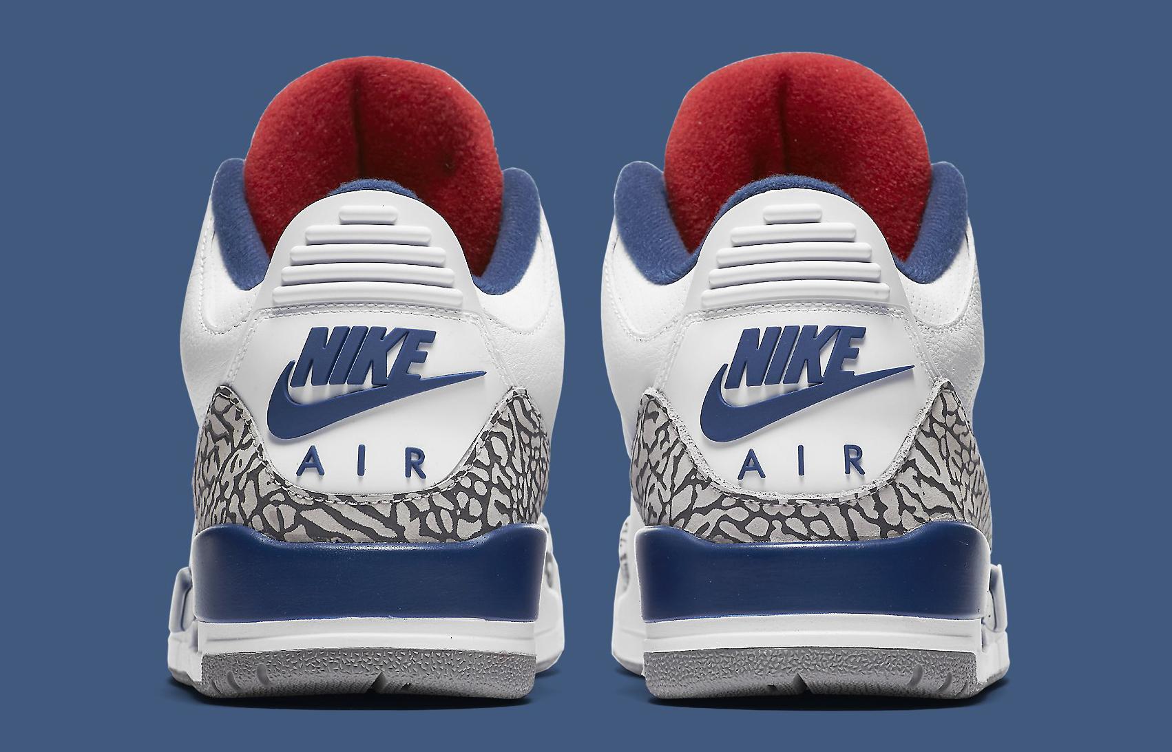 True Blue Air Jordan 3 854262-106 Heel