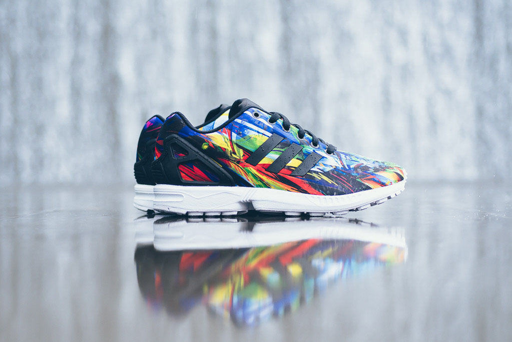 adidas zx flux white multicolor