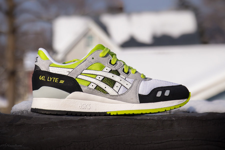classic fit 4ad07 65fc5 ASICS Gel-Lyte III - White/Black/Lime | Sole Collector