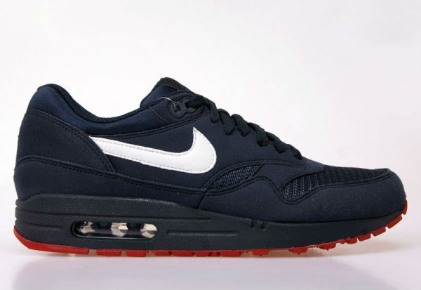 Nike Air Max 1 ObsidianWhite University Red | Sole Collector