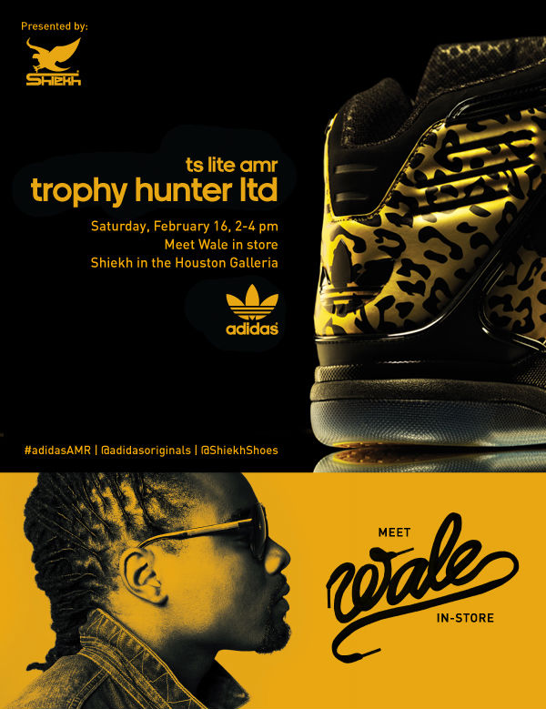 Wale x adidas Originals TS Lite AMR Trophy Hunter Launch
