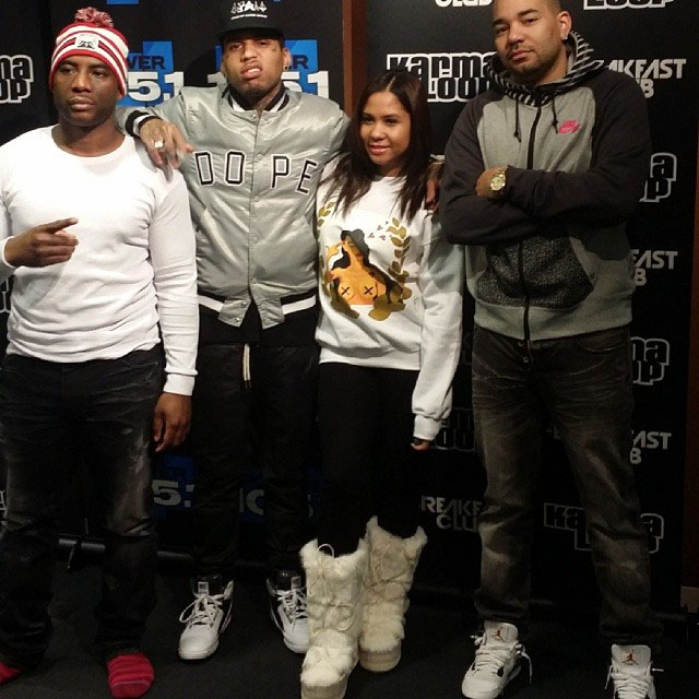 Kid Ink wearing Nike Air Python; DJ Envy wearing Air Jordan 4 Cement
