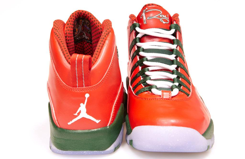 new styles 9b107 1c5a5 ... Air Jordan 10 Ray Allen Christmas PE (3) ...