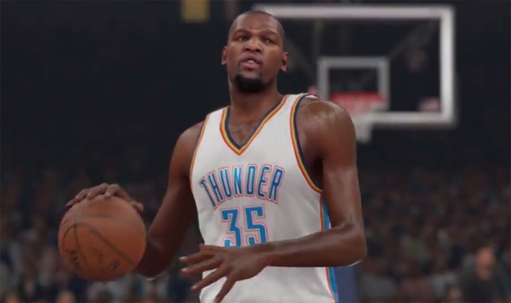NBA 2K15 Gameplay Footage featuring Kevin Durant