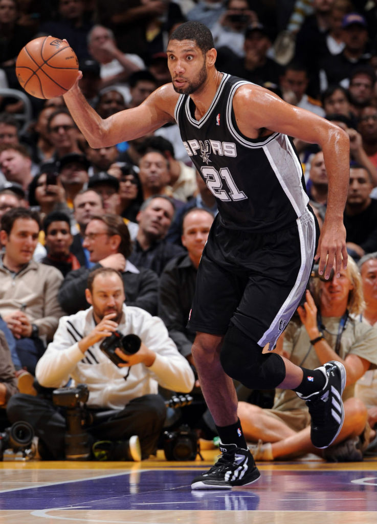 Tim Duncan wearing adidas Flight Path PE Black