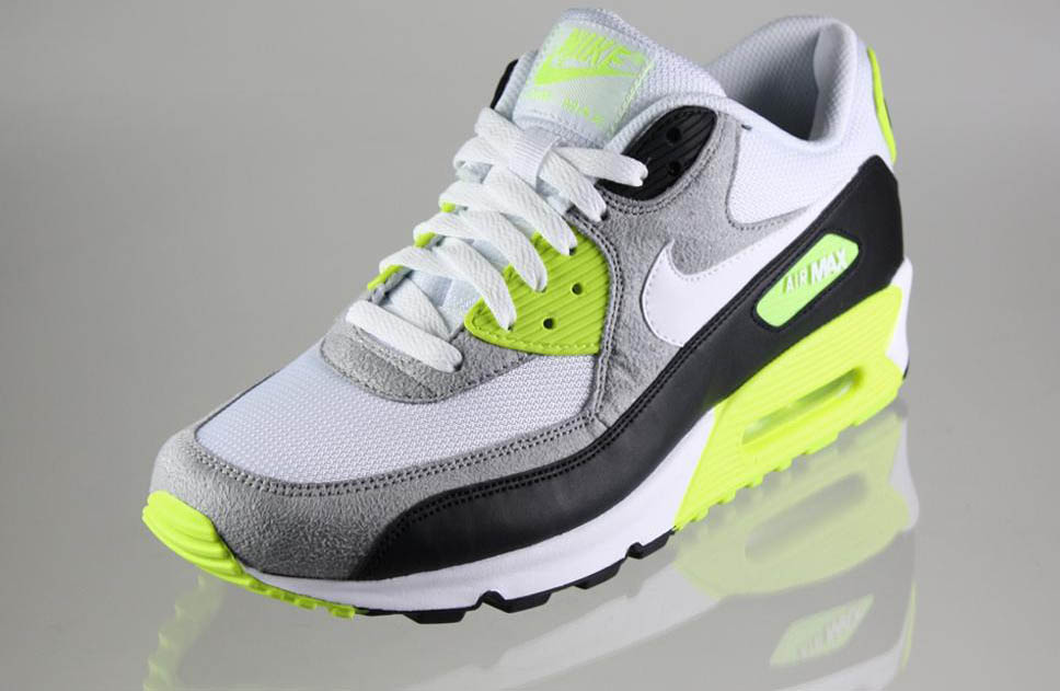 Nike Air Max 90 Black White Medium Grey Volt 325018-048 (2)