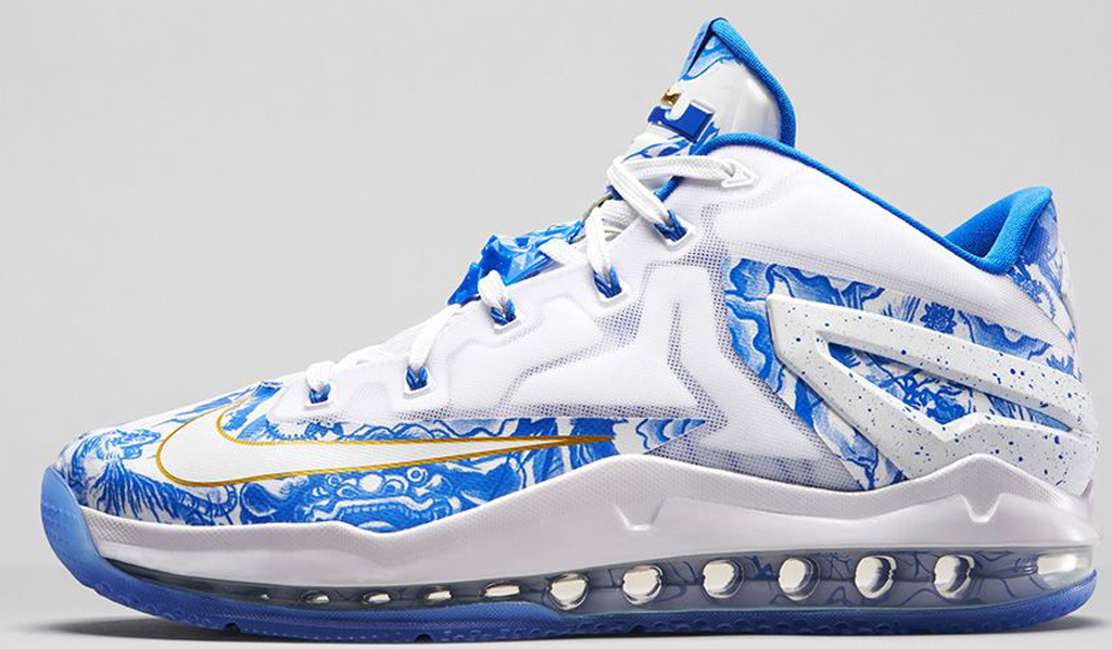 Nike LeBron 11 Low CH \u0027China\u0027 683253-144 White/Hyper Cobalt-University Blue