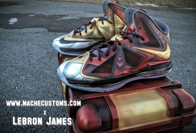 "Nike LeBron X ""Ironman 3"" for LeBron by Mache Custom Kicks (2)"