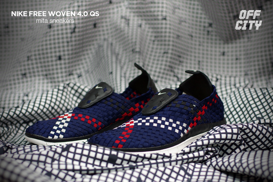 mita sneakers x Nike Free Woven 4.0 QS blue white red