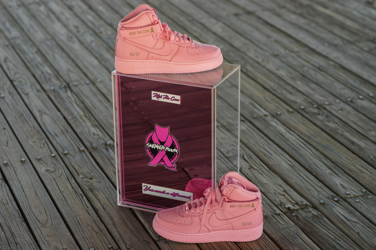 Sneaker Room x Nike Air Force 1 High Pink BCA (9)