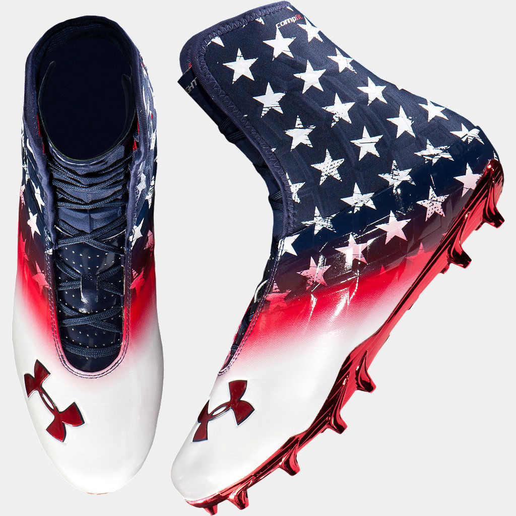 Under Armour American Flag Running Shoes