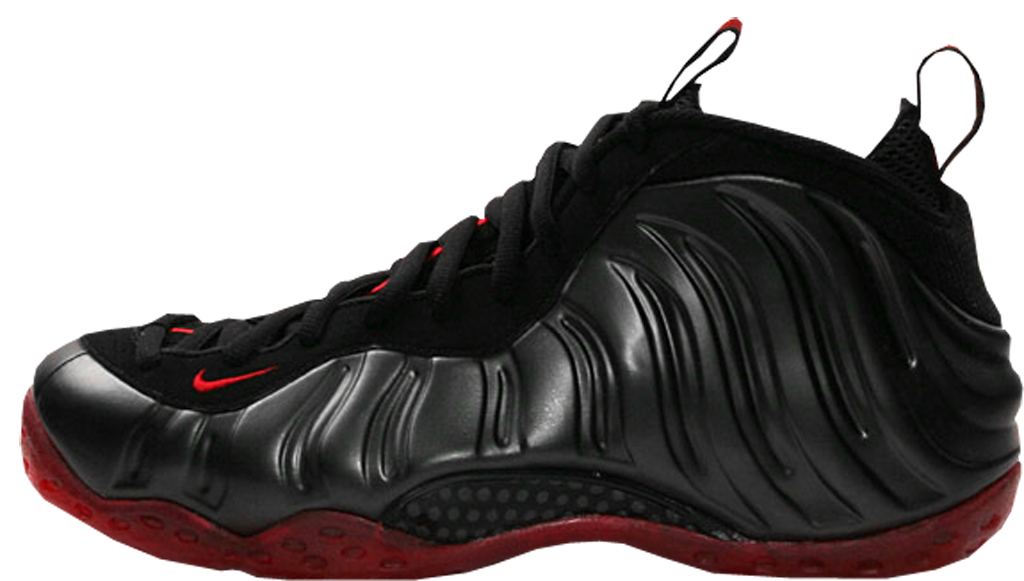 new concept f80a2 ba738 Nike Air Foamposite One  Cough Drop . Style Code  314996-006. Colorway   Black Varsity Red Release Date  06 19 2010