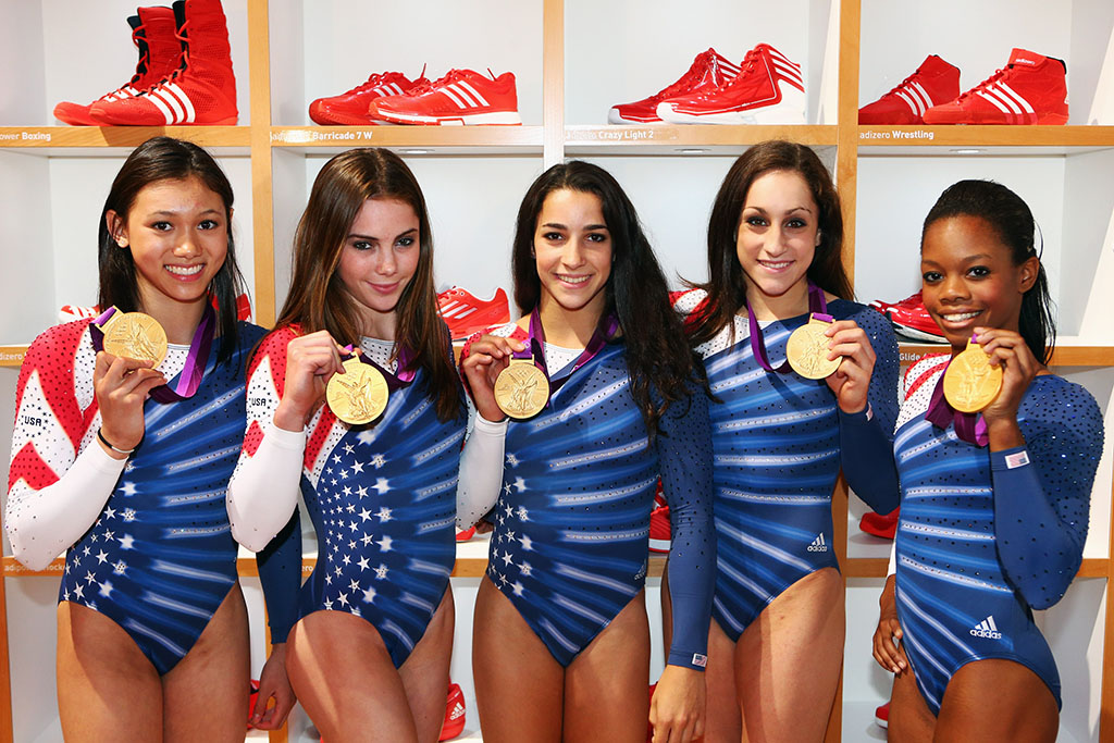 U.S. Women's Gymnastics Team Stops by adidas Lounge in Primeknit Sneakers (2)