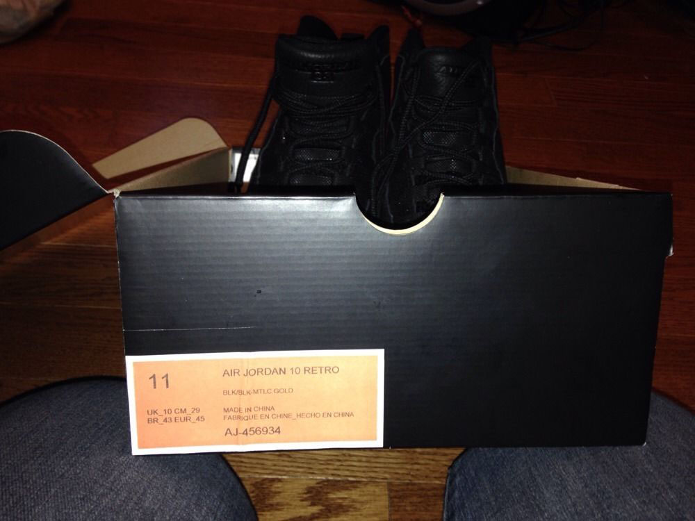 Air Jordan 10 OVO Black (5)