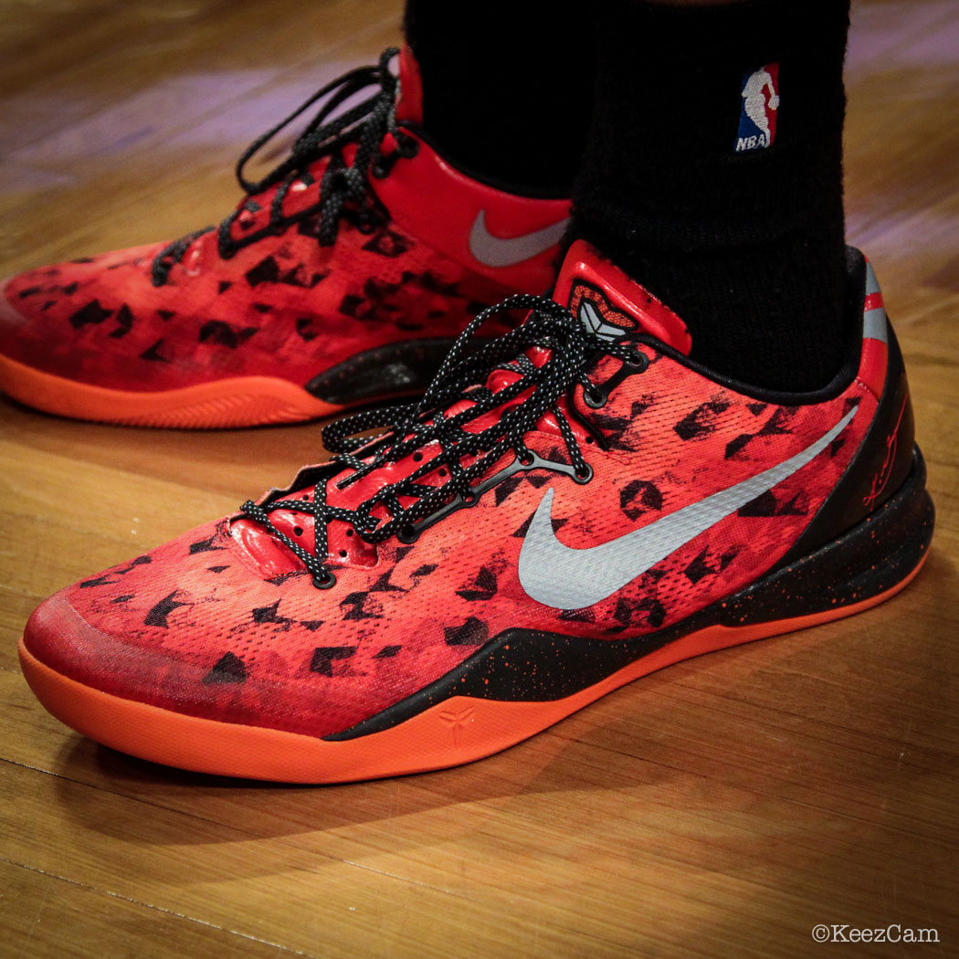 SoleWatch // Up Close At Barclays for Nets vs Clippers - Ryan Hollins wearing Nike Kobe 8