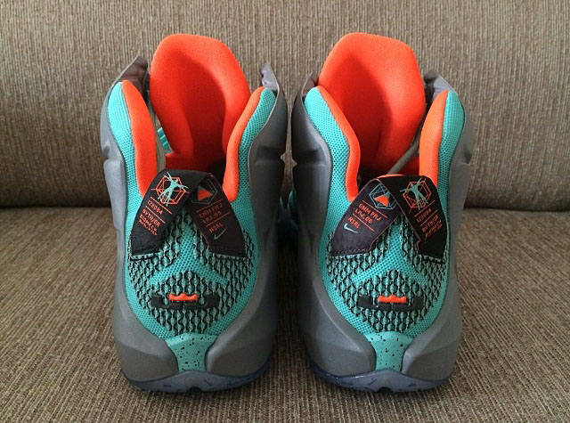 954fedfb0d6 Nike LeBron XII 12 Teal Grey-Orange Sample (20)