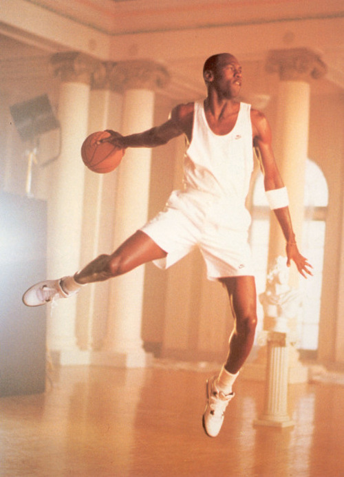 "Michael Jordan wearing ""Cement"" Air Jordan IV"