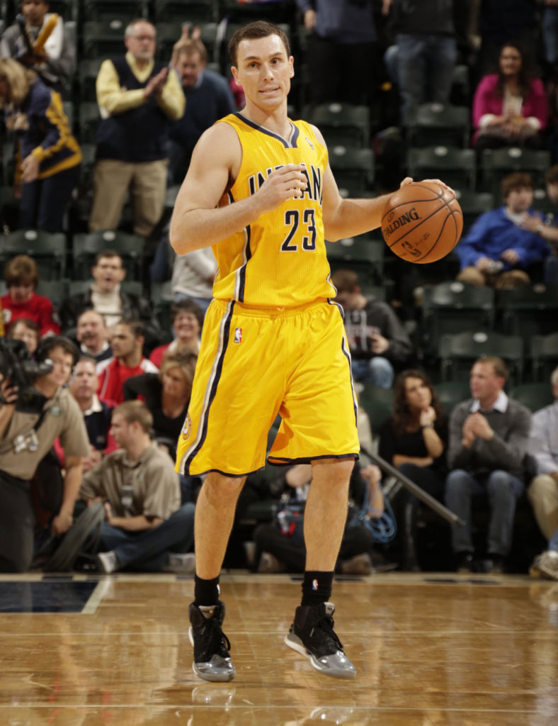 Ben Hansbrough wearing adidas adizero Rose 2.5 Playoffs