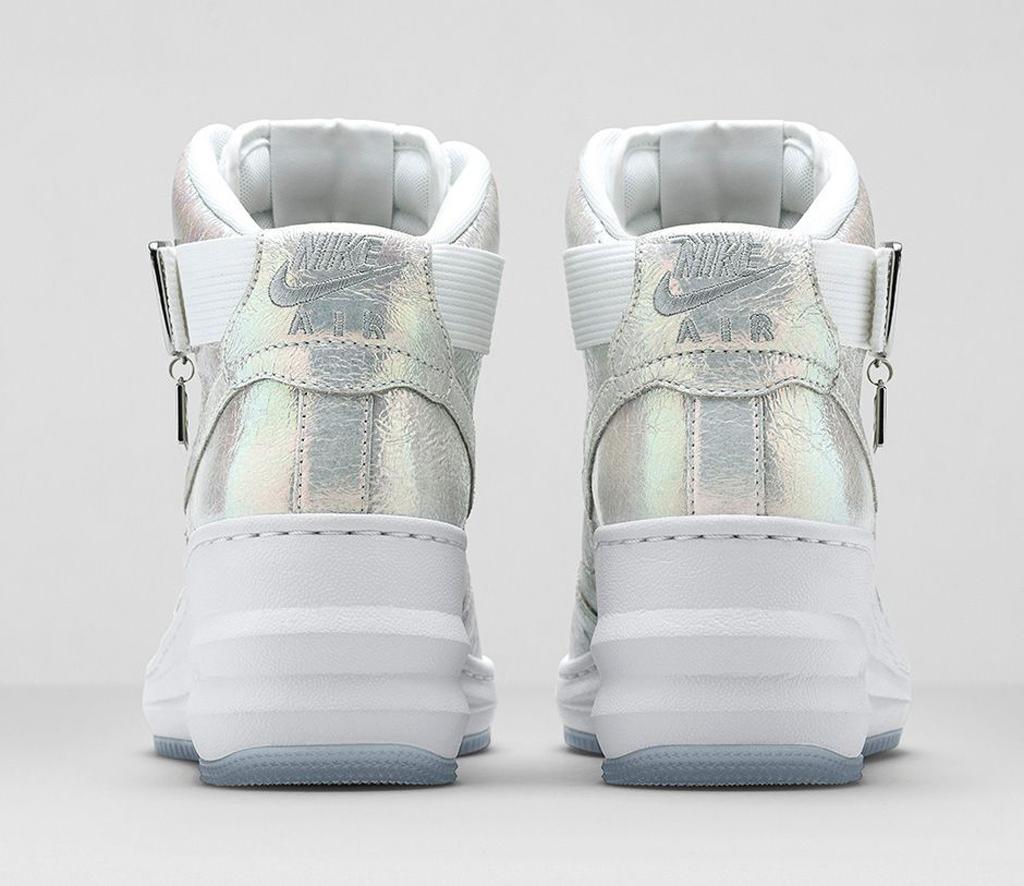 on sale 59341 7e4b2 Nike Lunar Force 1 Sky Hi Women s  Iridescent Pearl