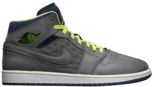 Air Jordan 1 Retro '97 TXT Flat Pewter/Flat Pewter-Electric Yellow-Squadron Blue