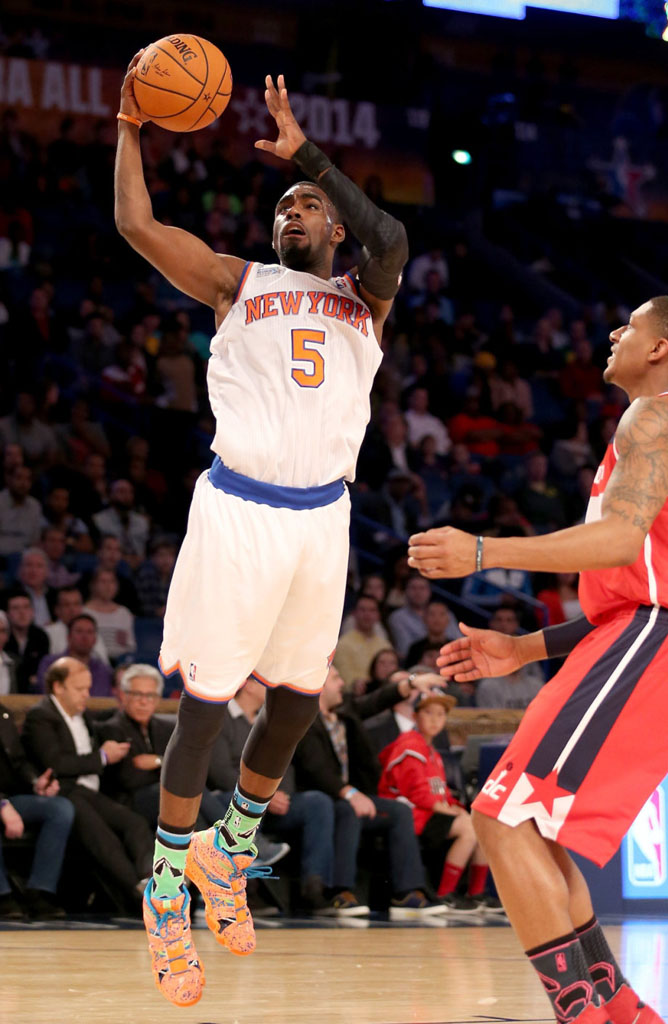 Tim Hardaway Jr. wearing adidas Crazy 8 All-Star