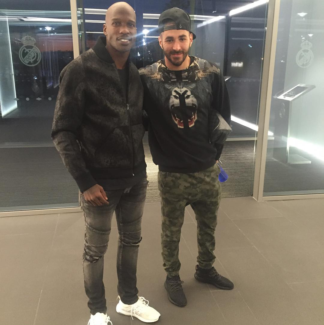 deec6f7b5050 Chad Johnson wearing the  White  adidas Ultra Boost  Karim Benzema wearing  the