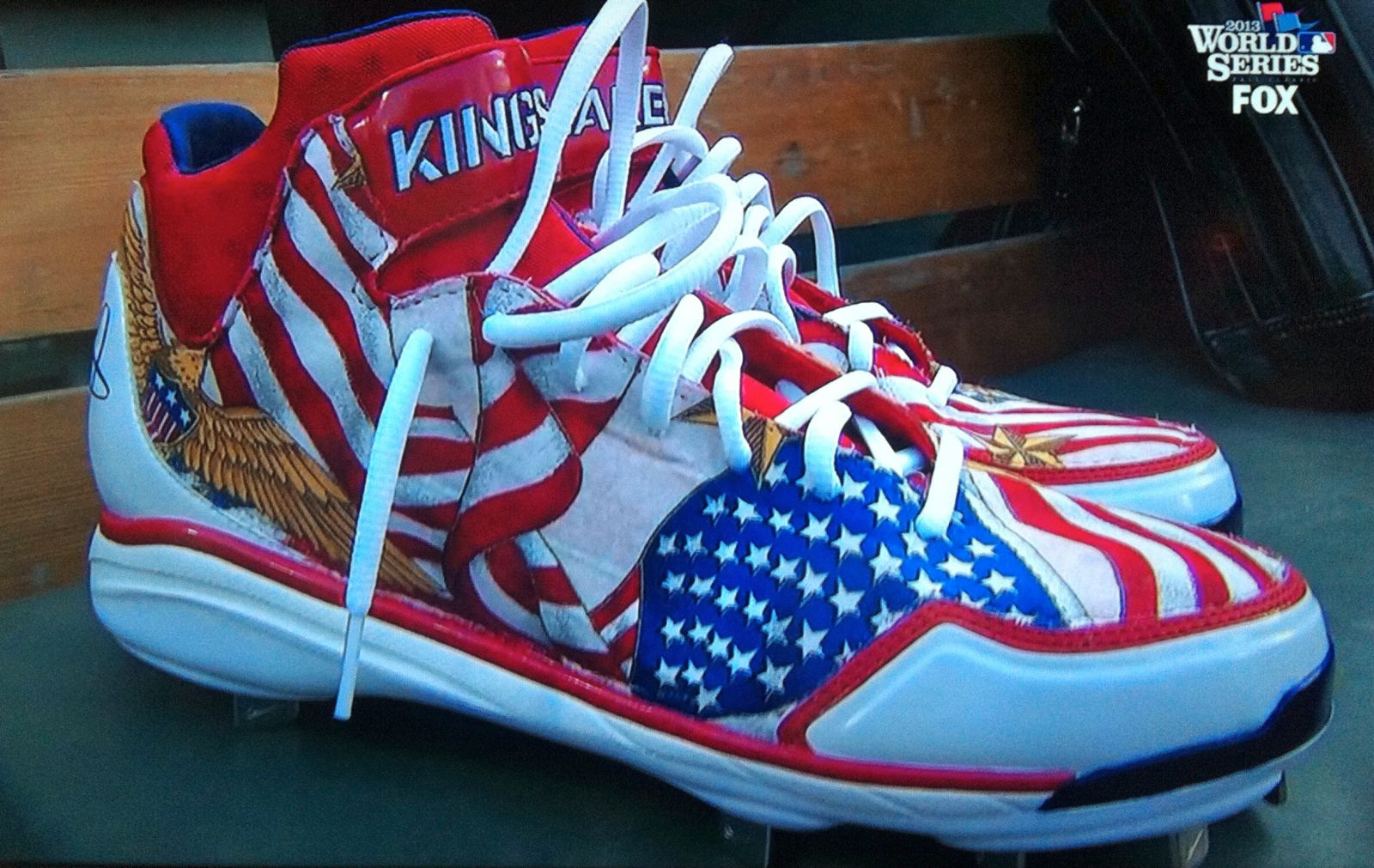Shane Victorino's Nike Air Huarache 2KFresh Boston Strong custom by CaseyCustoms