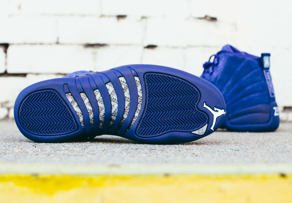 Air Jordan 12 Blue Suede Sole 130690-400