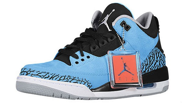 Air Jordan 3 Retro Dark Powder Blue/White-Black-Wolf Grey