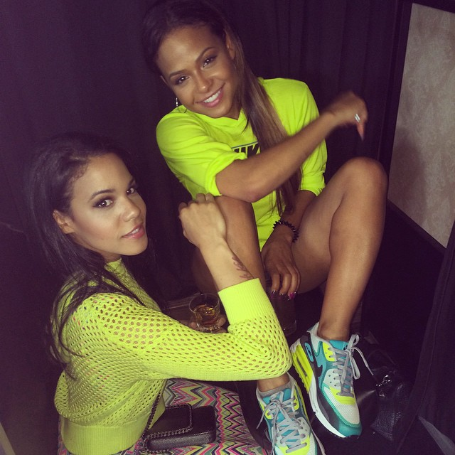 Christina Milian wearing Nike Air Max Lunar90 C3.0 Atomic Teal