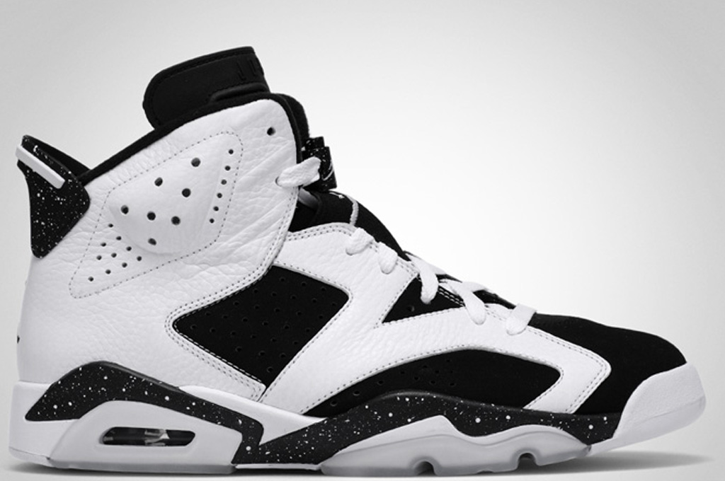 air jordan 6 black and white