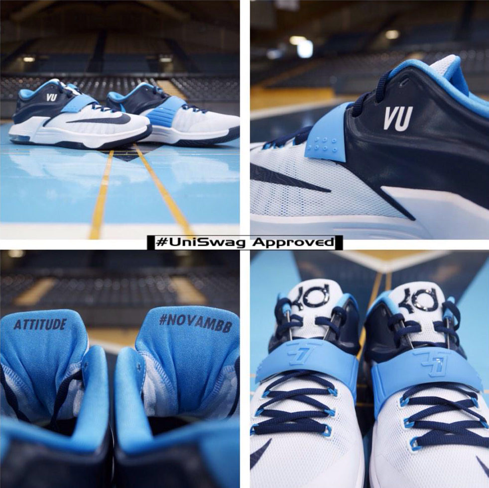 NIKEiD KD VII 7 for the Villanova Wildcats (1)