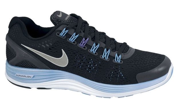 Nike Lunarglide+ 4 Premium Women's Black/Reflective Silver-Blue Glow-Pure Purple