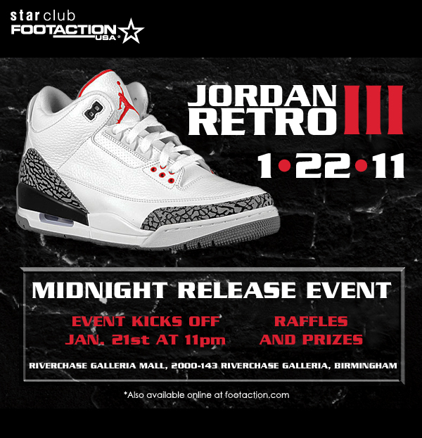 Cement Air Jordan Retro 3 Midnight Release Event Alabama