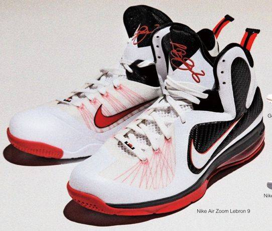 5decc7e816e Nike LeBron 9 White Black Sport Red 469764-100
