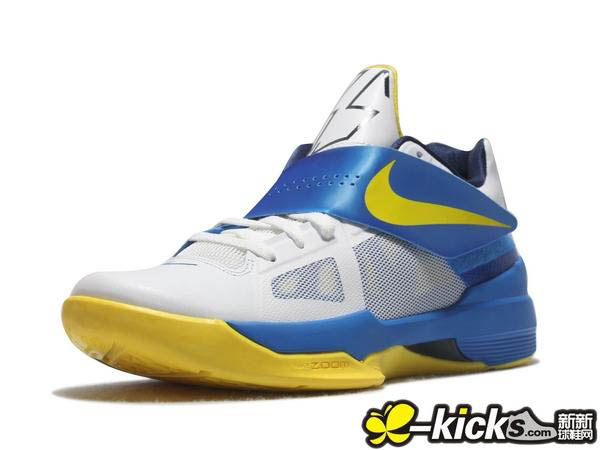 cheap for discount 9269f c6498 Nike Zoom KD IV White Tour Yellow Photo Blue Midnight Navy 473679-102 (5