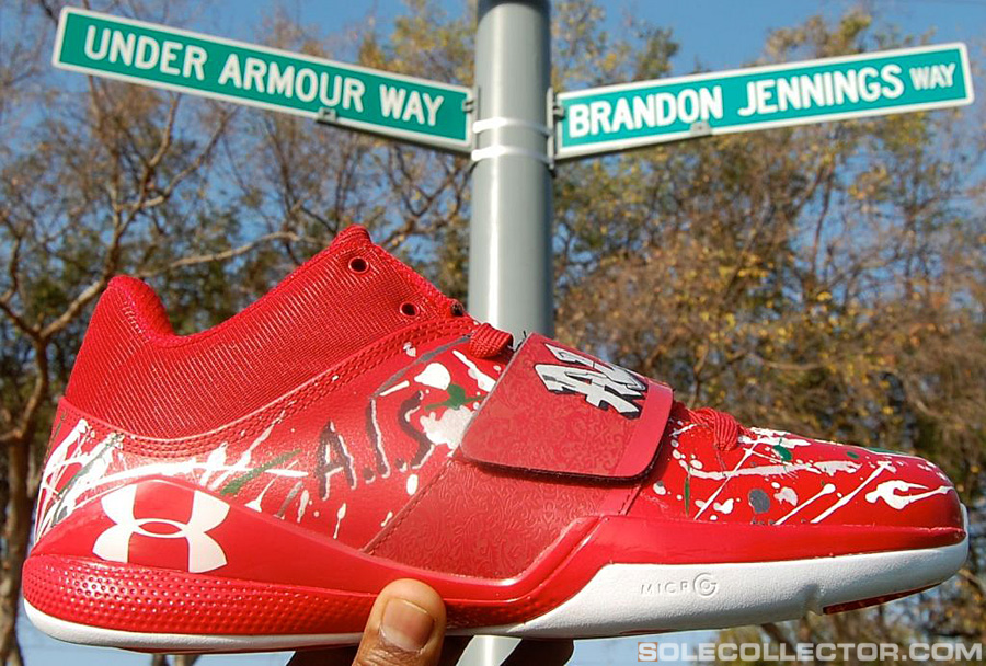 brandon jennings custom quotcomptonquot under armour bloodline