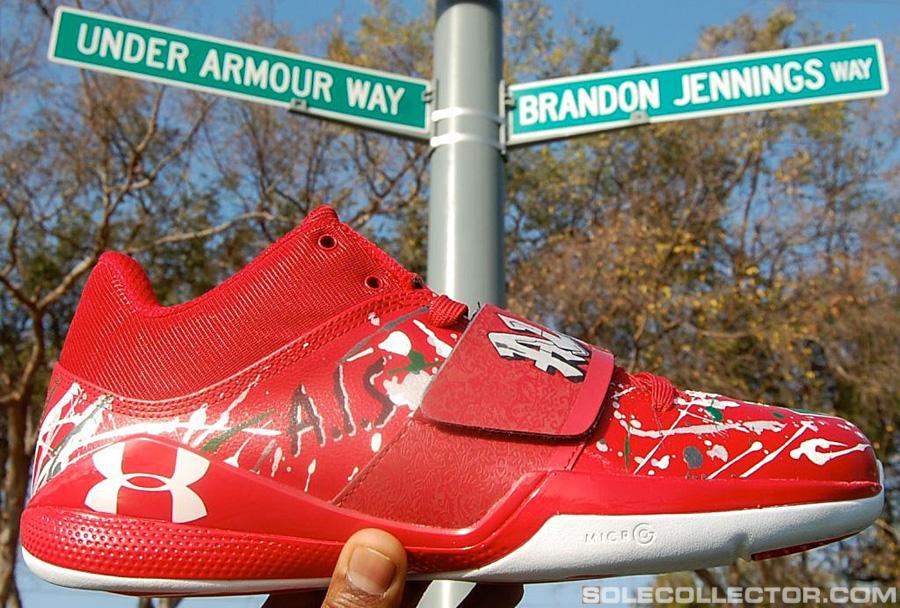 brandon jennings custom quotcomptonquot under armour bloodline
