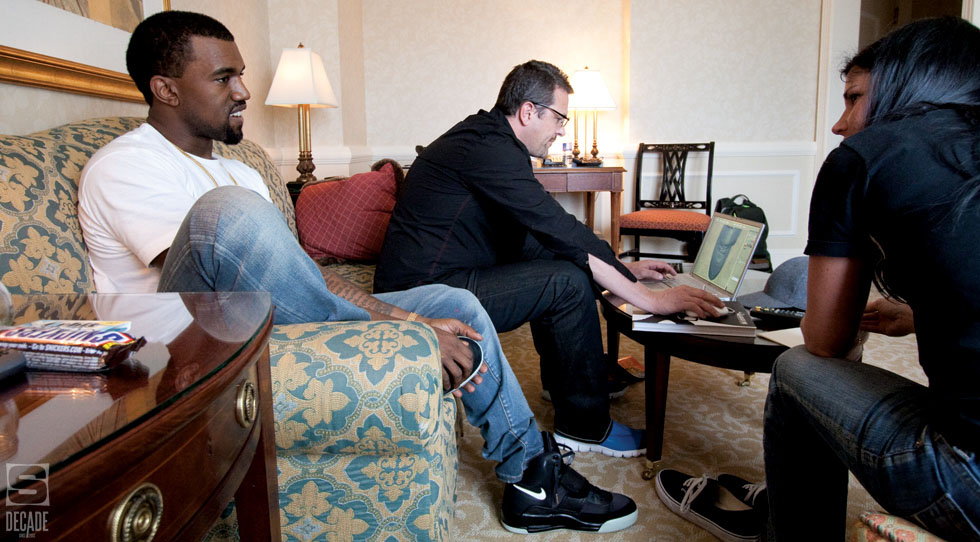 Kanye West wearing Nike Air Yeezy II 2 Sample