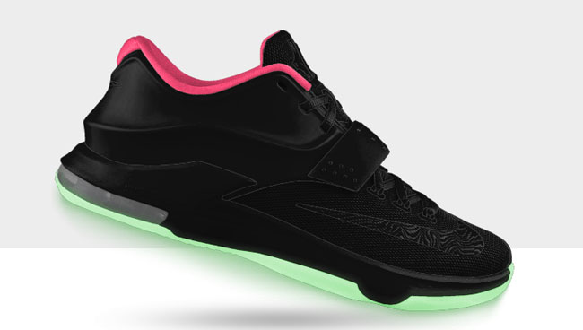 No sooner was the Nike KD7 unveiled than it was made available to customize  on NIKEiD.