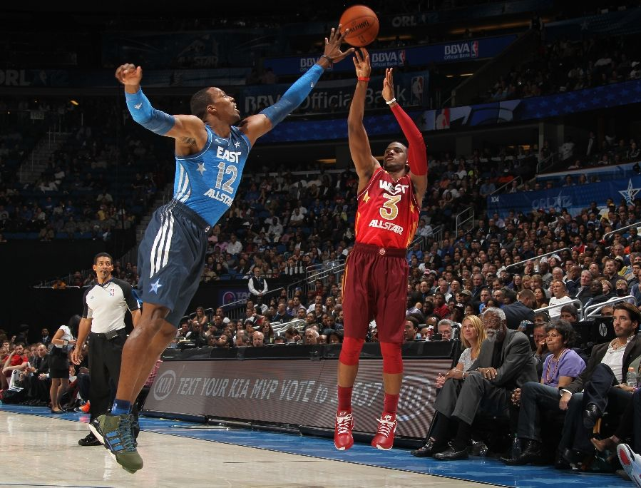premium selection 8c0d7 988bf Dwight Howard wearing adidas adiPower Howard 2 Lei Feng Shoes G49115 (3)