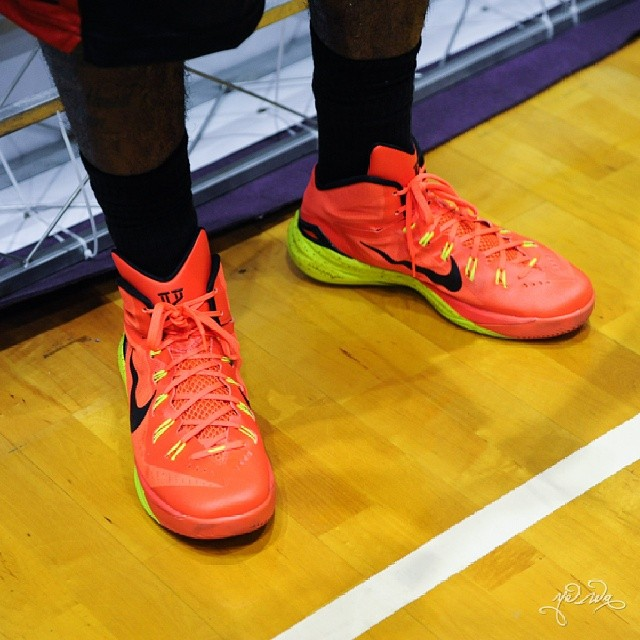 a36716b6c02a Kyrie Irving Wearing Nike Hyperdunk 2014 PE in China