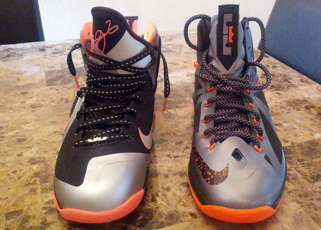 Nike LeBron X 10 Silver Black Orange Mango (12)
