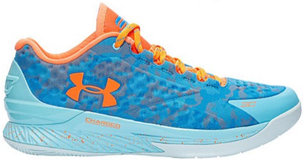 Under Armour Curry One Low Electric Blue/Carolina Blue-Blaze Orange