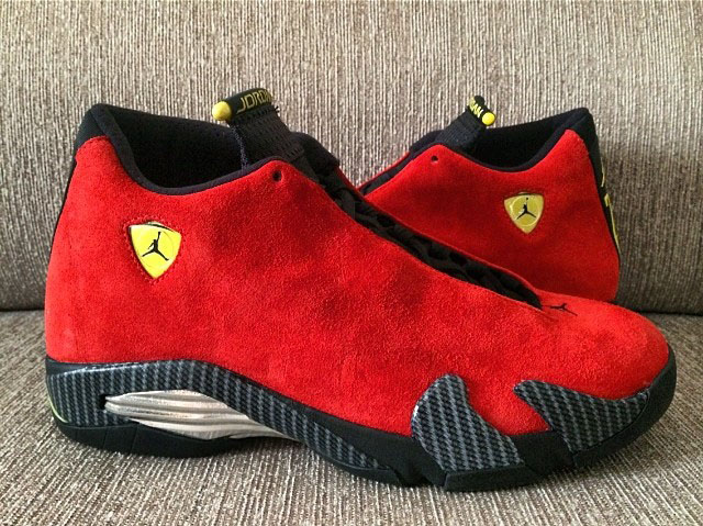 Air Jordan 14 XIV Red Suede (4)