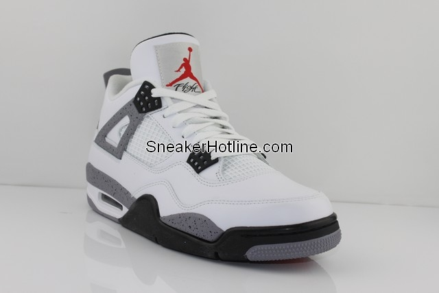 Air Jordan Retro 4 White Black Tech Grey 308497-103 B