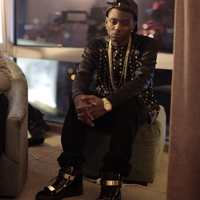 Soulja Boy wearing Giuseppe Zanotti Double-Zip Sneakers