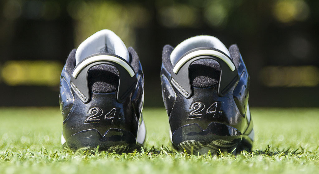 Charles Woodson's Air Jordan VI 6 Raiders PE Cleats (2)